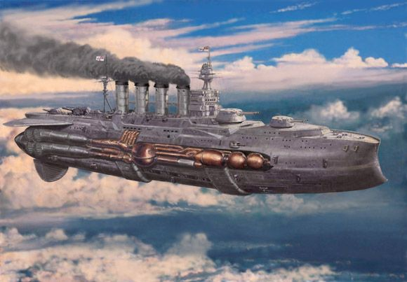 steampunk airships battle - Google Search | Float on ...