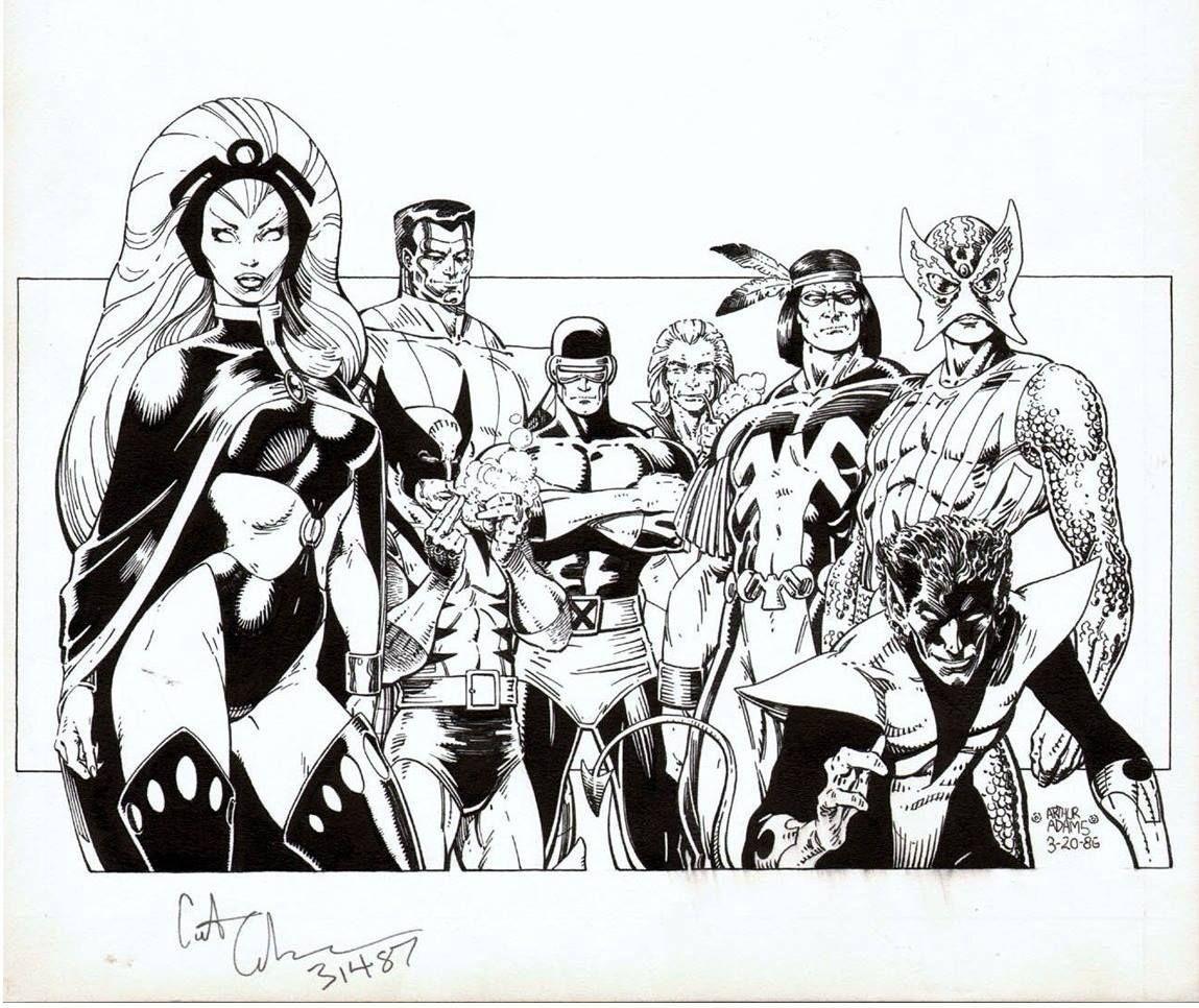 Art Adams Classic X Men 1985 Comic Books Art Comic Book Artists Marvel Comic Character