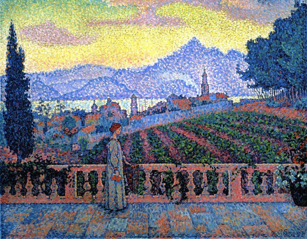 Le célèbre The Athenaeum - The Terrace, Saint-Tropez (Paul Signac &LQ_46