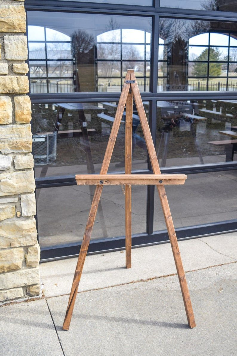 Wedding Floor Easel with Adjustable Shelf Wooden Art Stand ... on Easel Decorating Ideas  id=74312