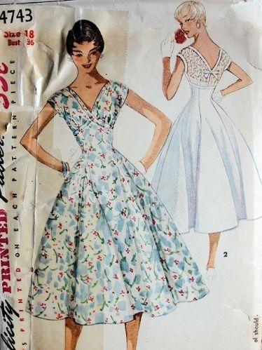 1000  images about Dress patterns on Pinterest - Patterns- Vintage ...