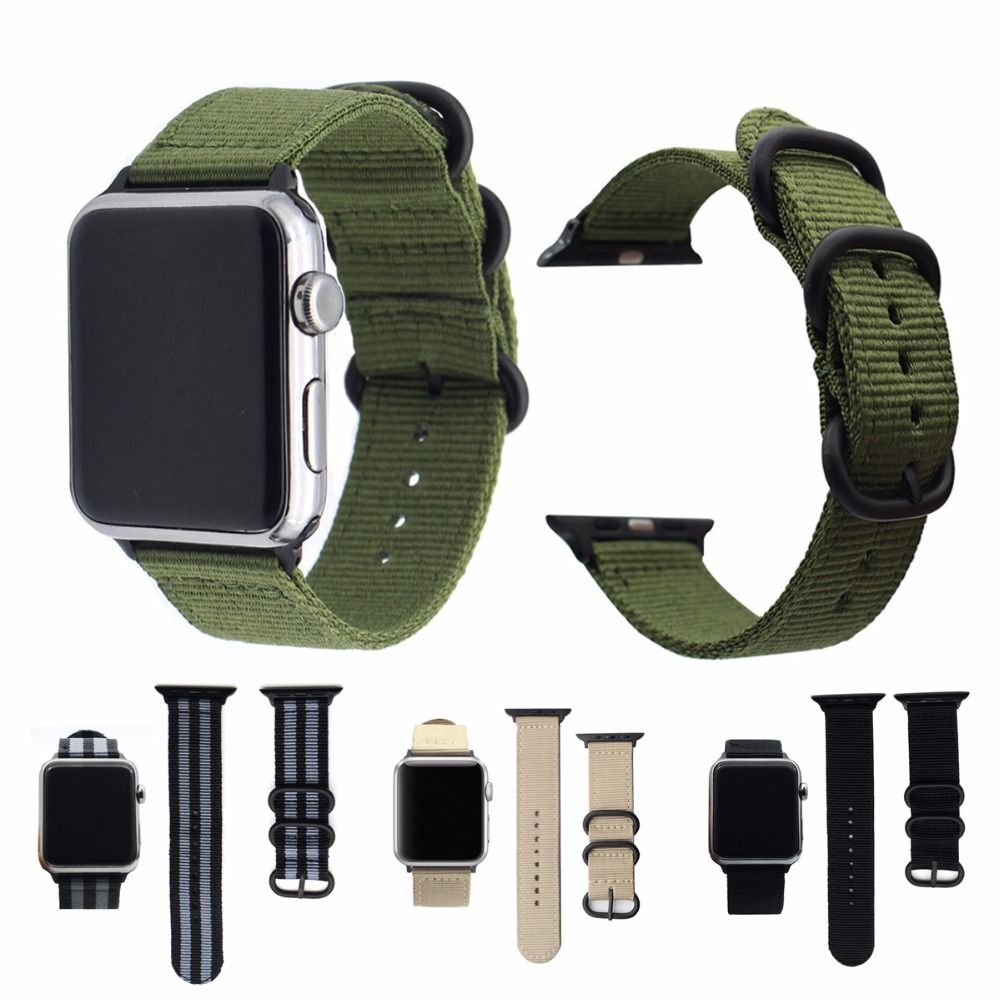 d73970b1ef6 comprar Eastar Venta caliente Nylon correa para Apple Watch Band Series 3 2  1 deporte pulsera de cuero 42mm 38mm correa para iwatch banda