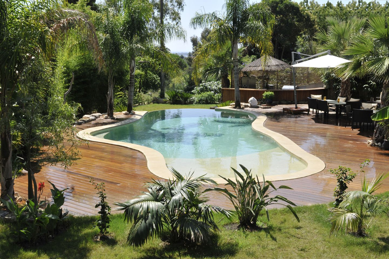 lagoon style pool by diffazur cool pools pinterest piscine lagon piscines et ext rieur. Black Bedroom Furniture Sets. Home Design Ideas