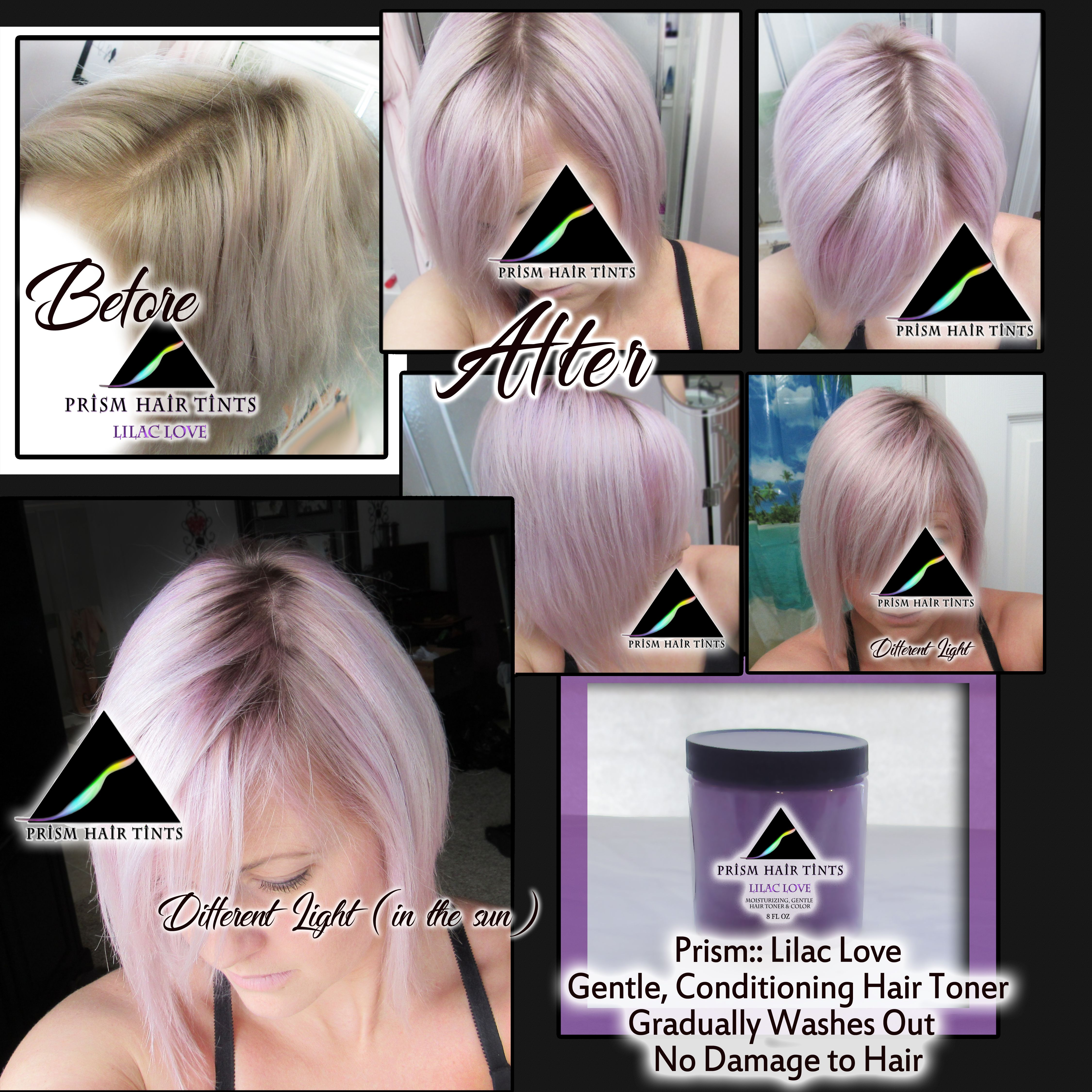 Prism Hair Tints Lilac Love Gentle Hair Color Toner And