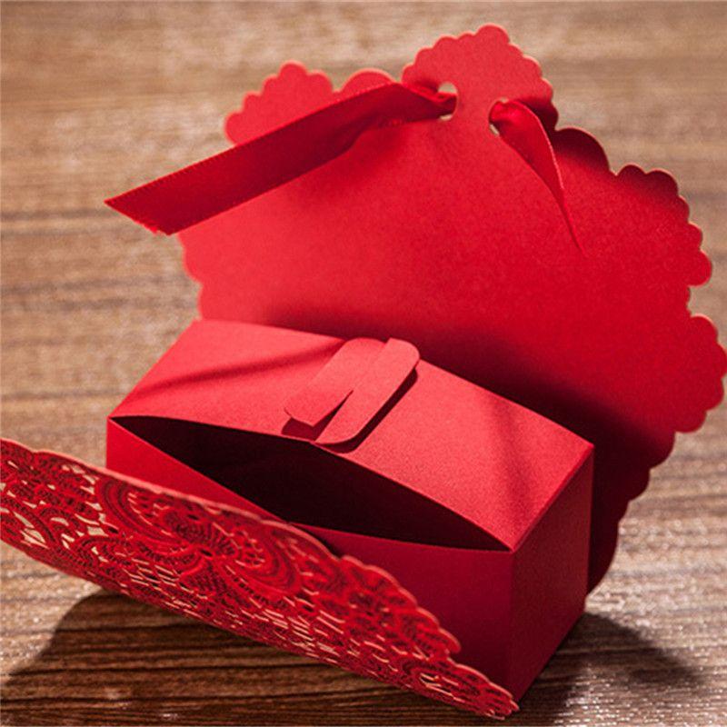 Corte a Laser rendas flor vermelha do Vintage Candy Gift Boxes Wedding convites cartões 2 PCS lembranças Casamento peças centrais Favors Decor em Caixas de bombons de Home & Garden no AliExpress.com | Alibaba Group