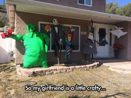 the nightmare before christmas decoration - Nightmare Before Christmas Outdoor Halloween Decorations