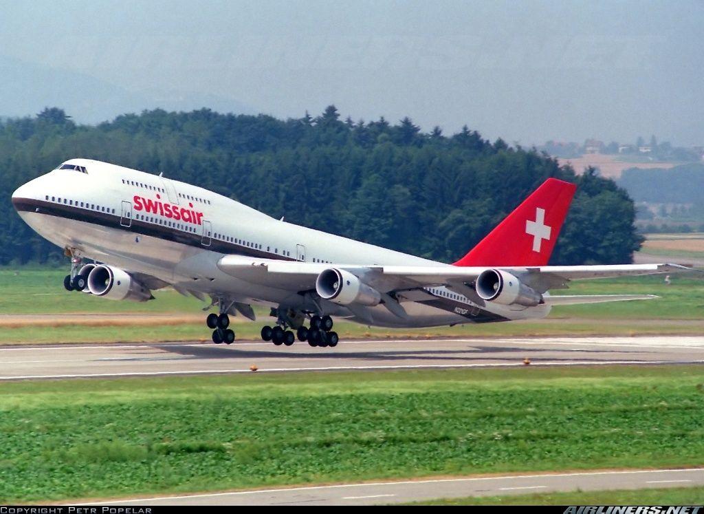 Swissair N221GF Boeing 747357 aircraft picture Air