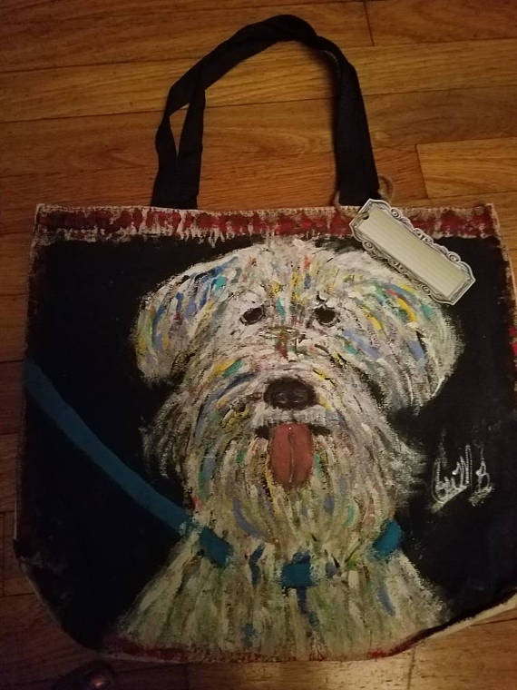 Check out this item in my Etsy shop https://www.etsy.com/listing/525865522/hand-painted-canvas-bag