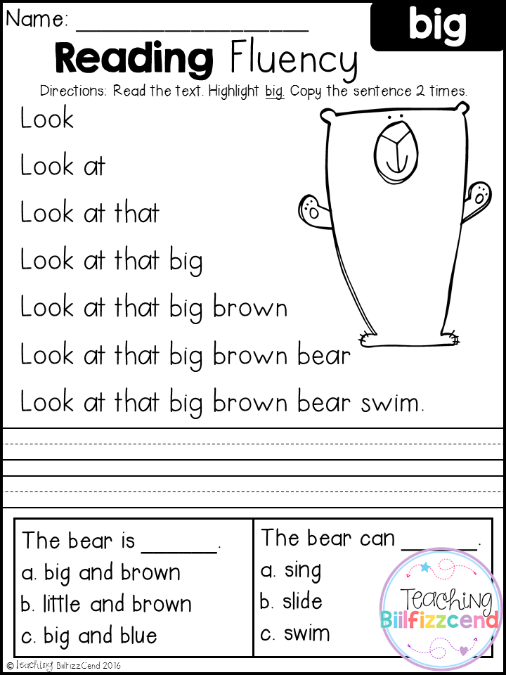 Critical kindergarten reading printable worksheets ...