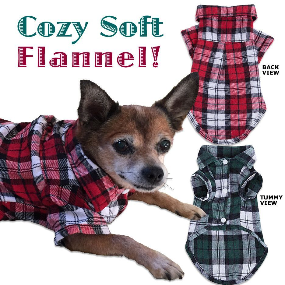 Soft & Cozy Plaid Flannel Small Dog Shirt Dog shirt, Dog