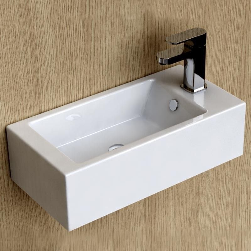 Lave Mains Gain De Place 50x25 Cm Ceramique Pure Lave Main Lave Main Wc Lave Main Toilette