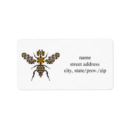 Bee Cool Quilt Pattern Address Labels - pattern sample design - sample address label
