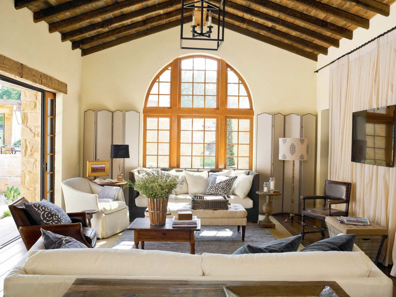 Best 10 Stunning Tuscan Living Room Designs : Wonderful Tuscan Style Living  Room Design With Comfortable