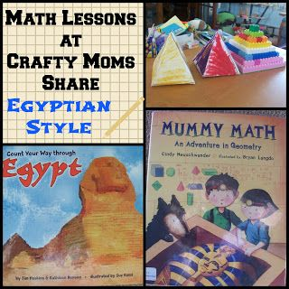 Crafty Moms Share Math Lessons Egyptian Math Pyramids Math Lessons Ancient History Homeschool Math Activities