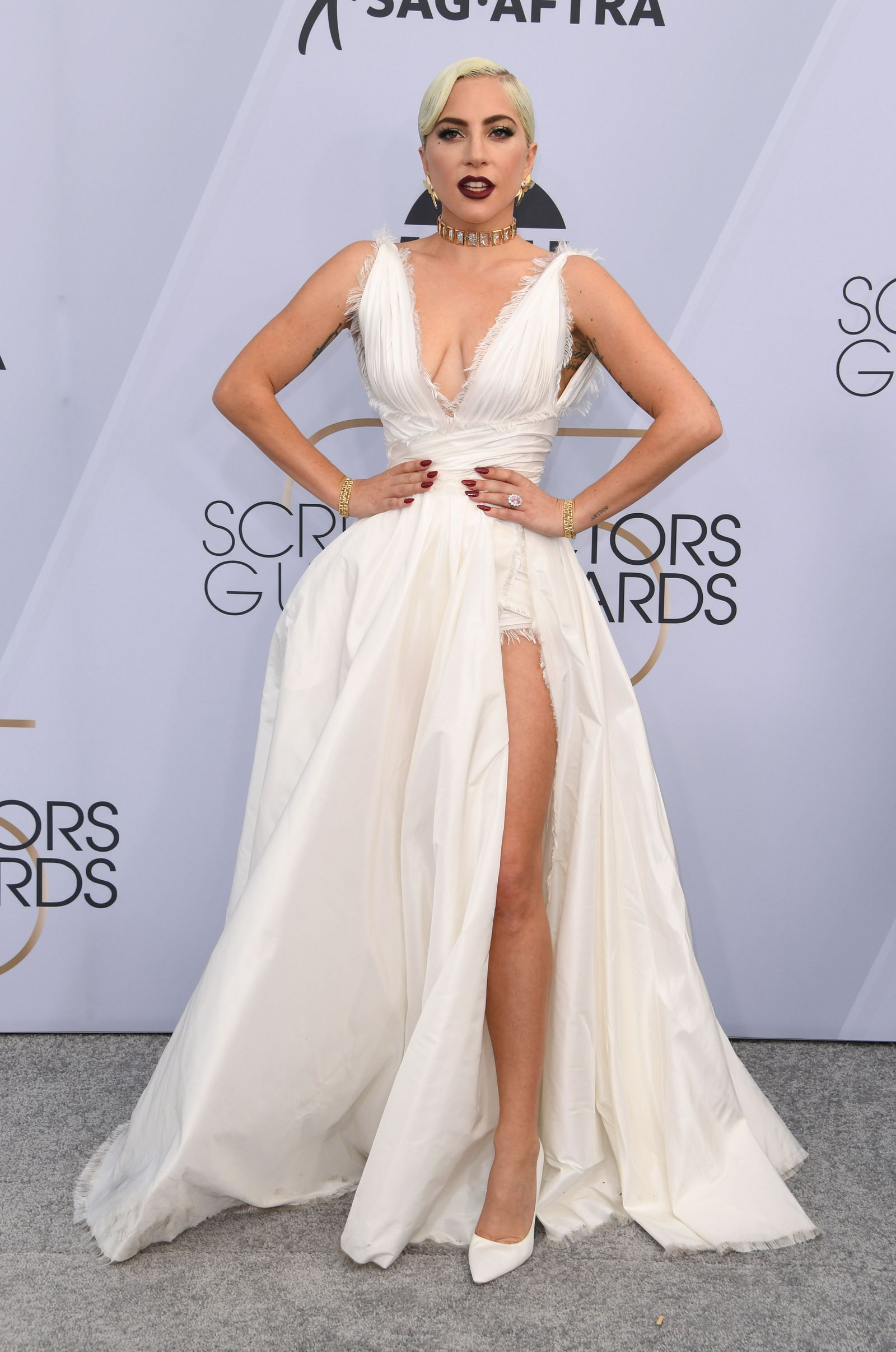 910462c3a044 Lady Gaga- at SAG awards looking gorgeous in Dior couture.  dior  ladygaga