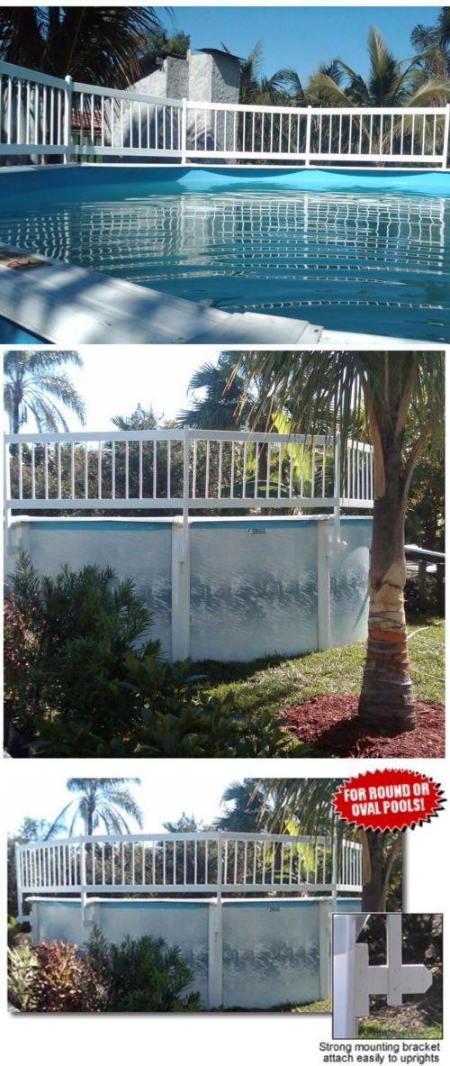 Pool Fences 167851 Swimming Pool Safety Fence Base Kit Water Above
