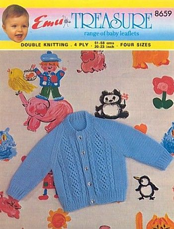 3562cf89d3a4 Vintage Emu Baby Knitting Patterns
