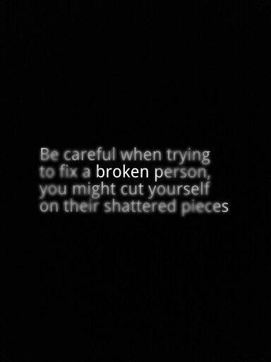a broken person