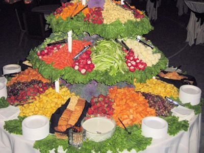 Vegetable Trays For Wedding Receptions