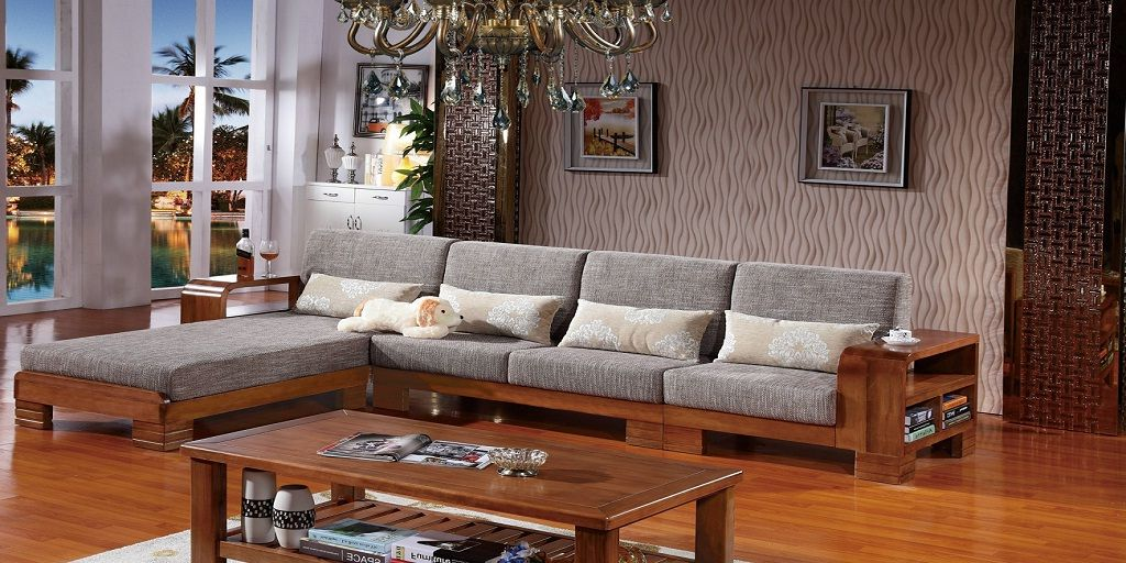 L Shaped Wooden Sofa Design New 2018 Sofamoe In 2020 Wooden Sofa Designs Living Room Sofa Design Corner Sofa Design