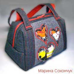 how to make a many sided bag.  Russian instructions with pattern and photos