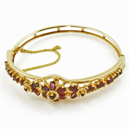 Vintage Panetta Victorian Revival Faux Garnet Bracelet from luckyladyvintage on Ruby Lane