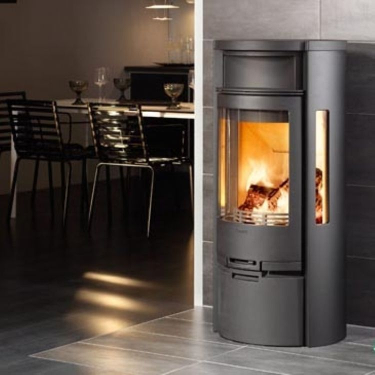 Contura 655 from kernow fires contemporary wood burning