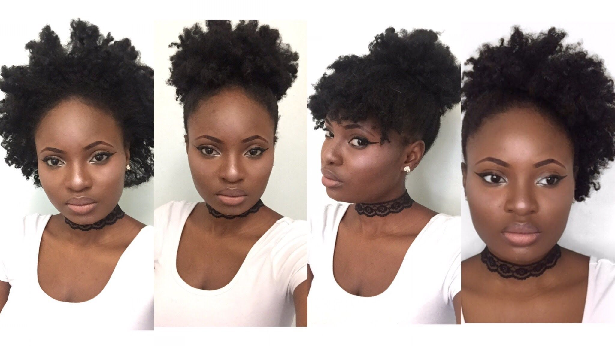 4 Simple Back To School Hairstyles For Medium Natural Hair 4c Feyise Medium Hair Styles Short Natural Hair Styles Hair Styles