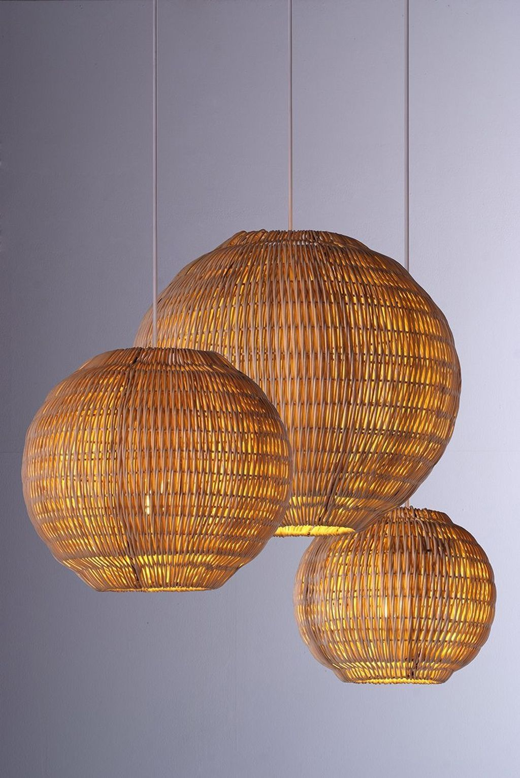 30 Adorable Hanging Lamp Designs Ideas From Rattan In 2020