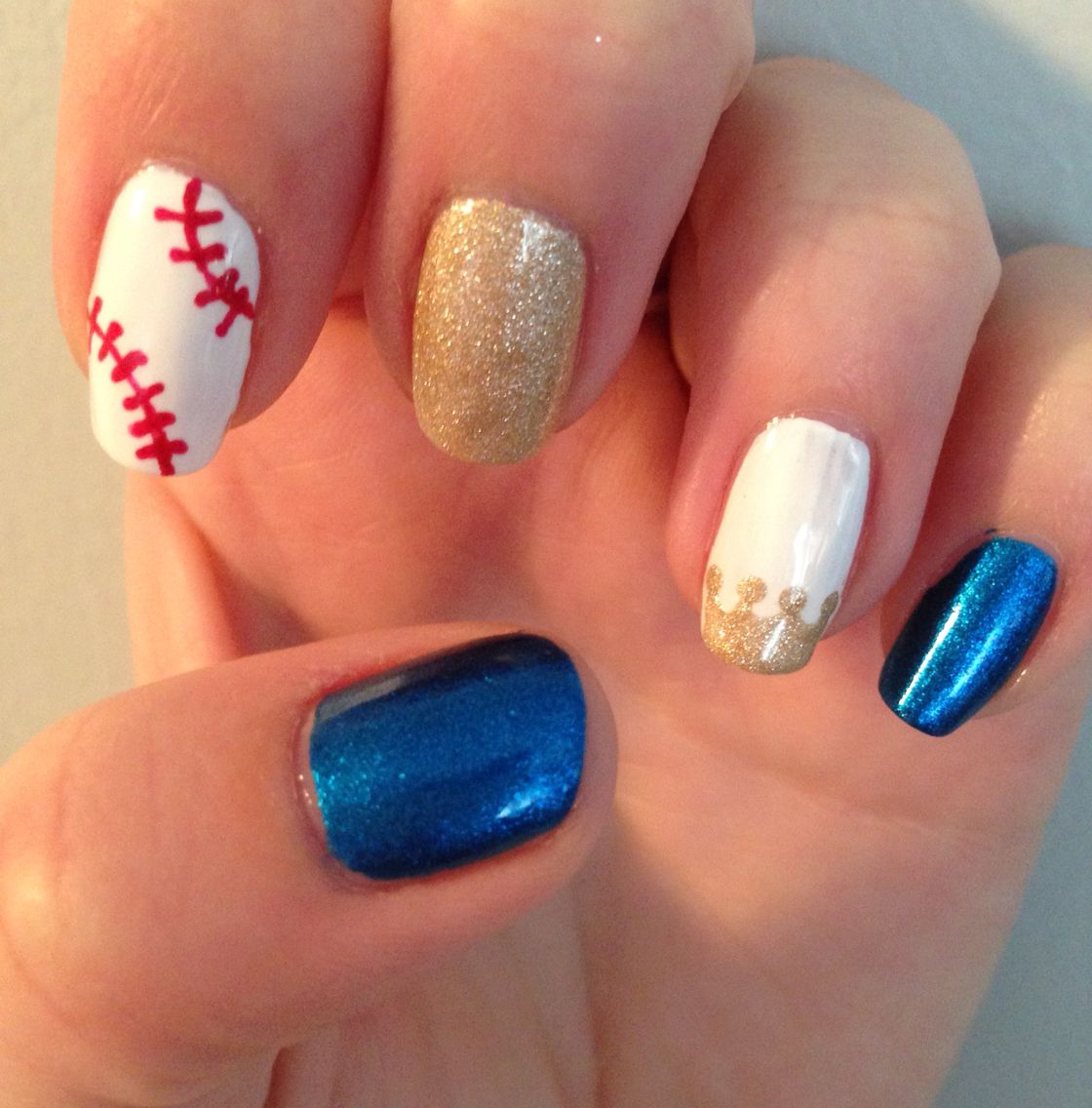 Kansas City Royals baseball nails | Nails | Pinterest