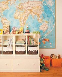 map and shelving