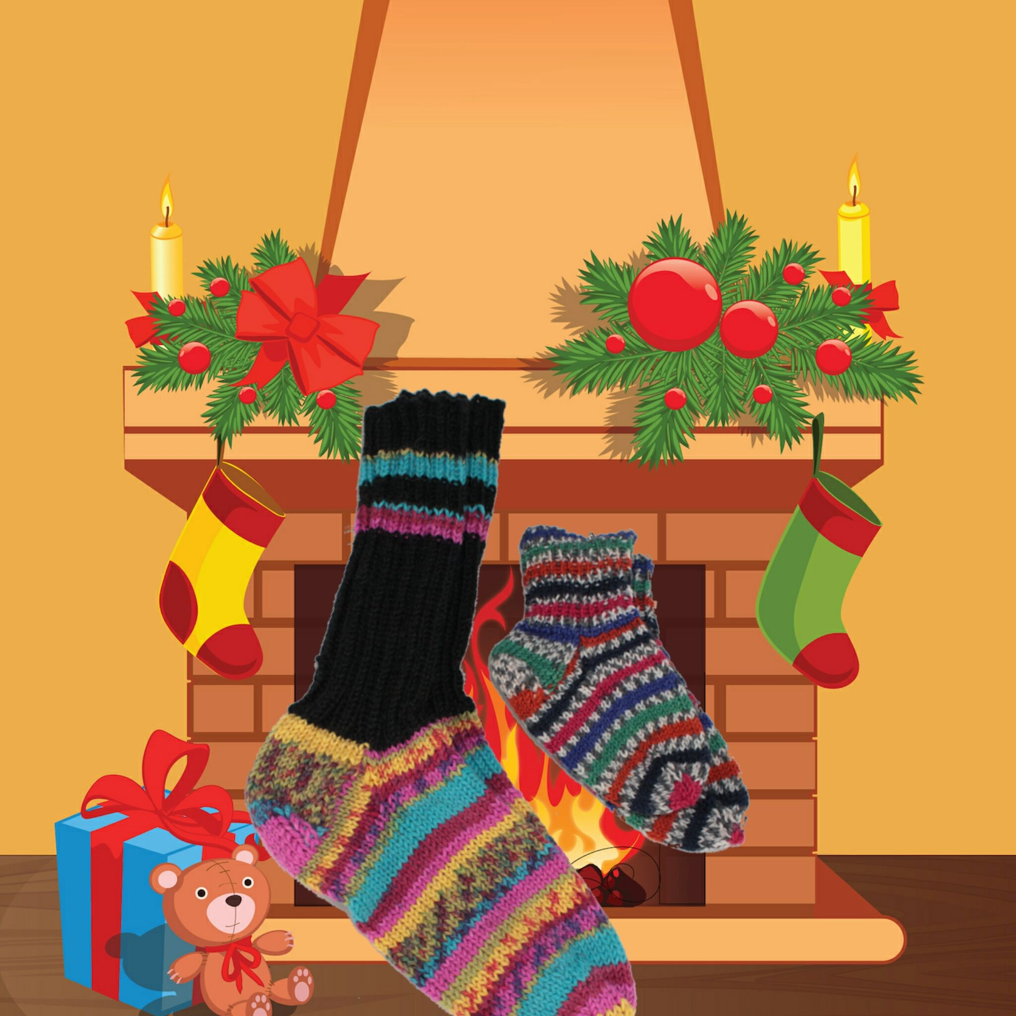#DIY in #Berlin -Keine 50 Tage und es ist soweit! Gut wenn man Gerlindes wunderschöne Socken vorrätig hat. #xmas