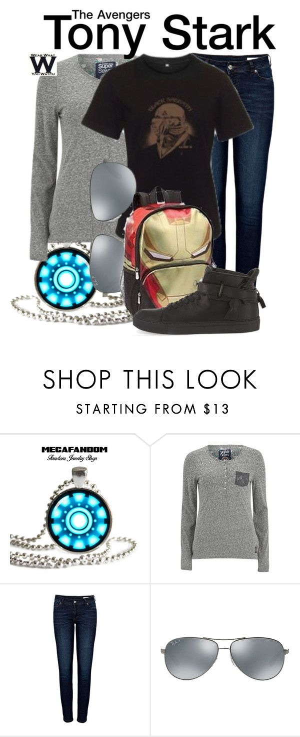 """The Avengers"" by wearwhatyouwatch ❤ liked on Polyvore featuring Reactor, Superdry, Anine Bing, Ray-Ban, BUSCEMI, wearwhatyouwatch and film"