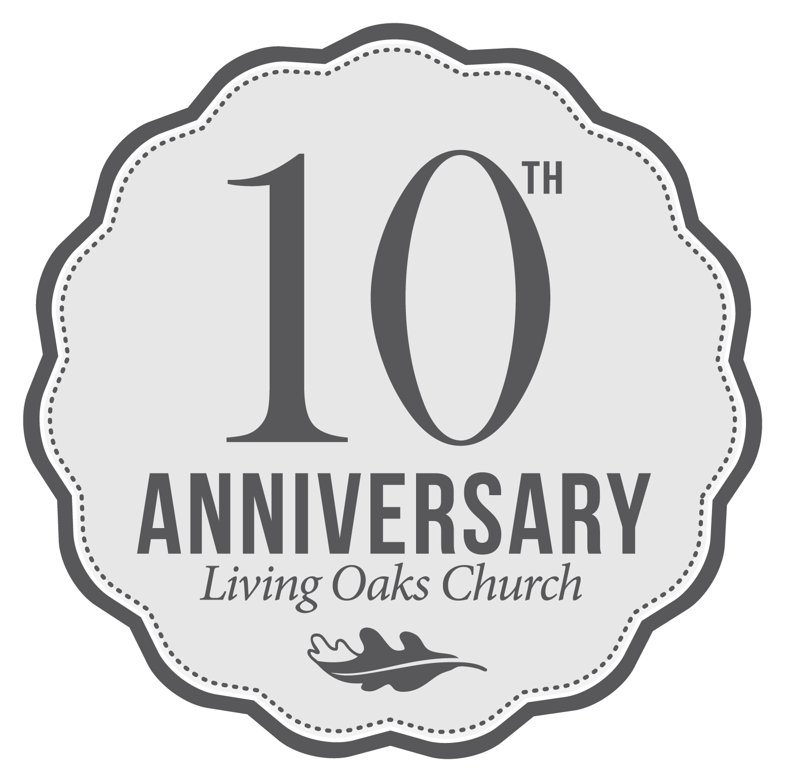 10th Anniversary | Branding Icon | Created By The LOCC Communications Team | © 2014 Living Oaks Community Church. All Rights Reserved.