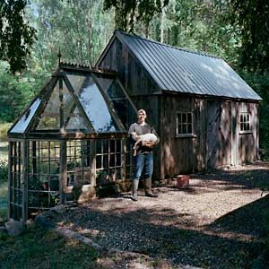the art of up cycling diy greenhouses build a green house from windows doors and a little. Black Bedroom Furniture Sets. Home Design Ideas