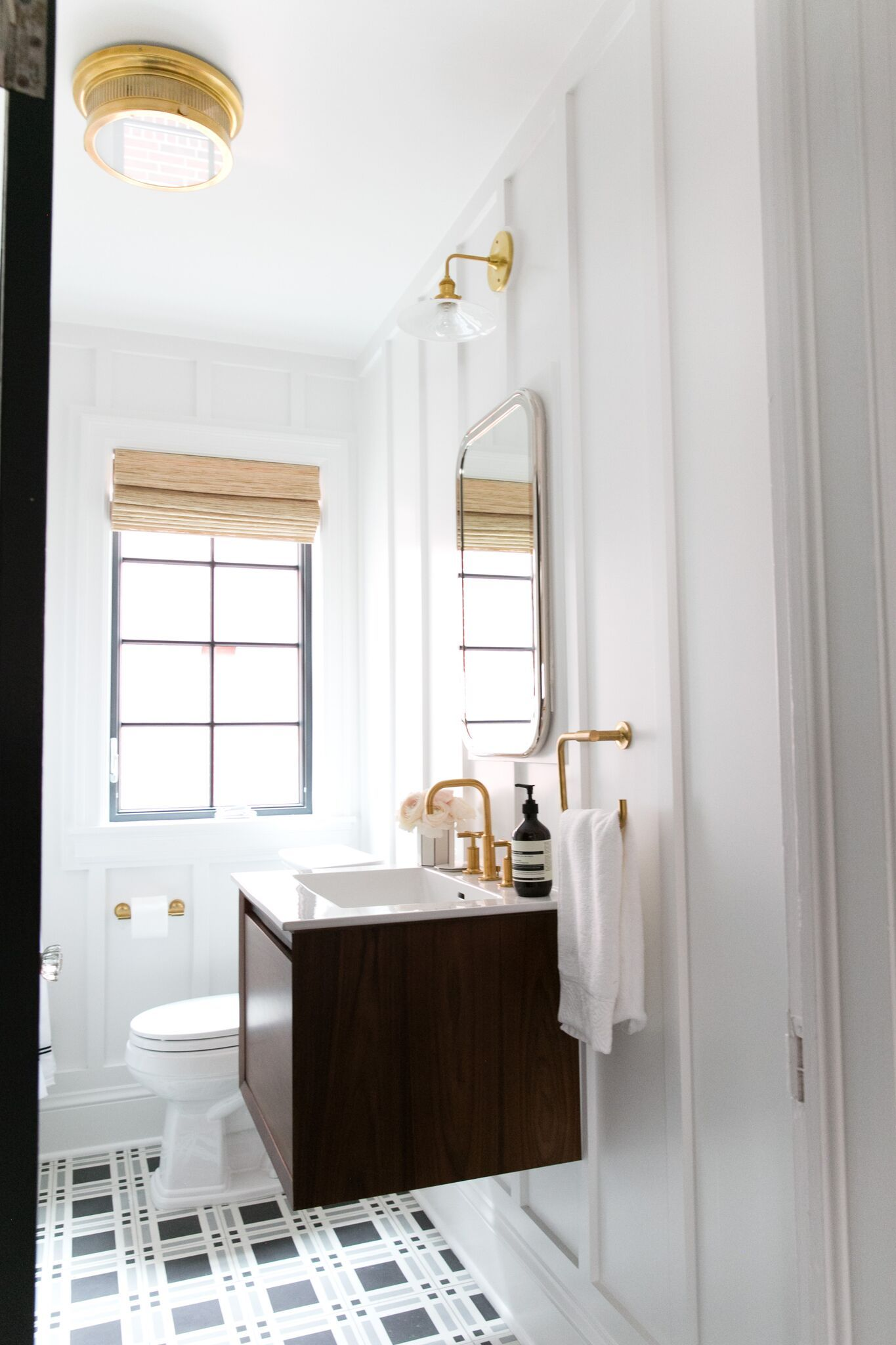 Denver Tudor Reveal | Floating vanity, Studio mcgee and Vanities