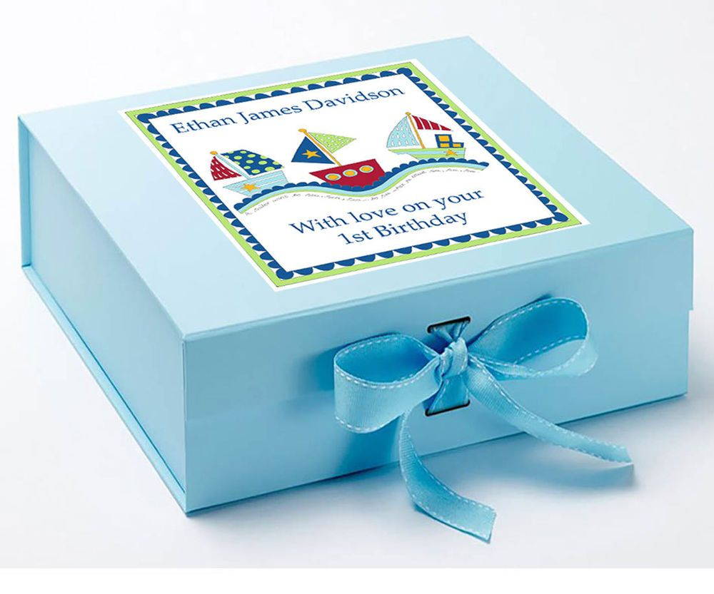 Details about baby boy personalised baby gifts keepsake box baby baby boy personalised baby gifts keepsake box baby memory box boats negle Gallery