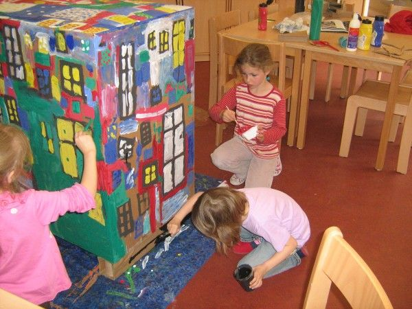 hundertwasser kindergarten projekt google search art for kids elements of art pinterest. Black Bedroom Furniture Sets. Home Design Ideas