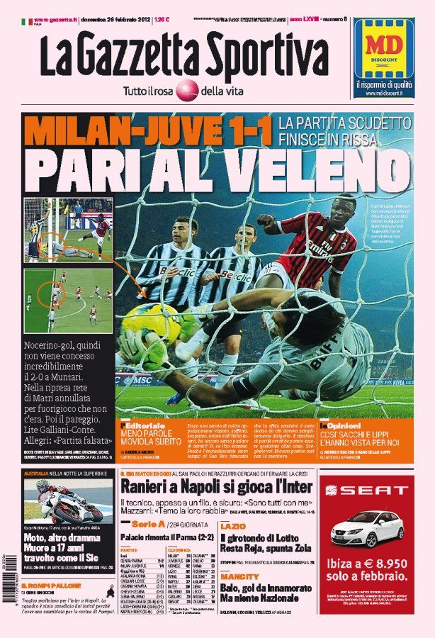 The Front Page Of This Morning S Gazzetta Comic Book Cover Book Cover Comic Books