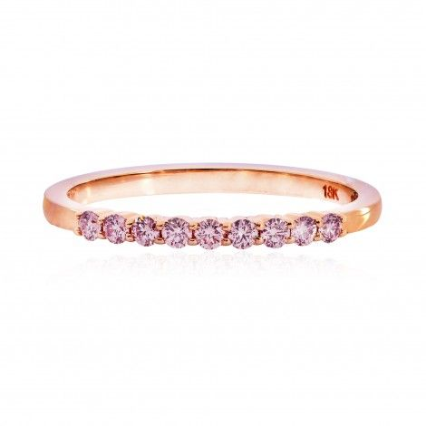 2067ee7ae Rose Gold Fancy Light Pink Diamond Half-Eternity Milgrain Wedding ...