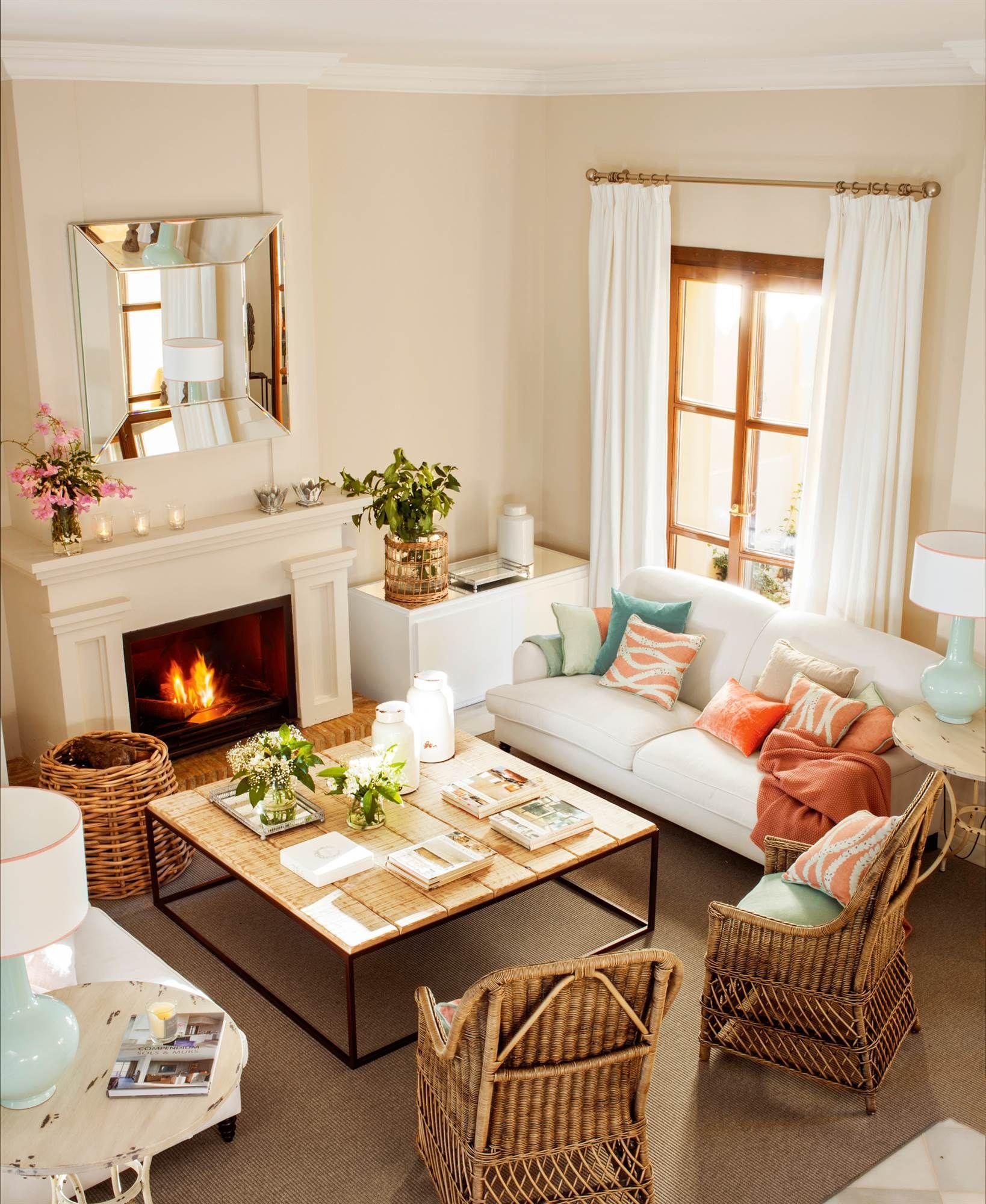 15 salones con chimenea el invierno sal n y invierno for Decoracion de casas clasicas