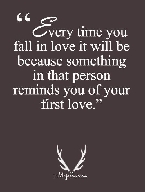 first love sad quotes