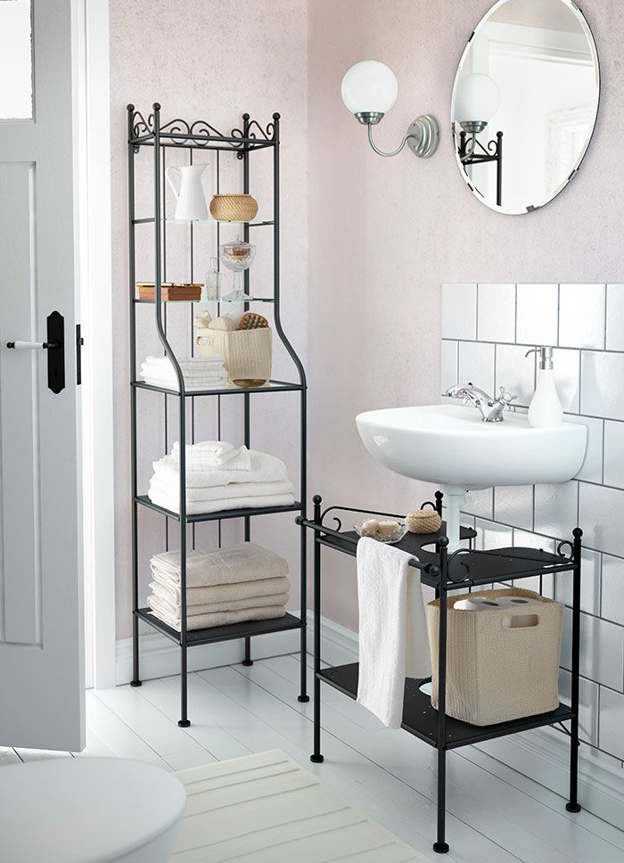 For Bathroom Simple Shelving For Extra Storage Hemnes