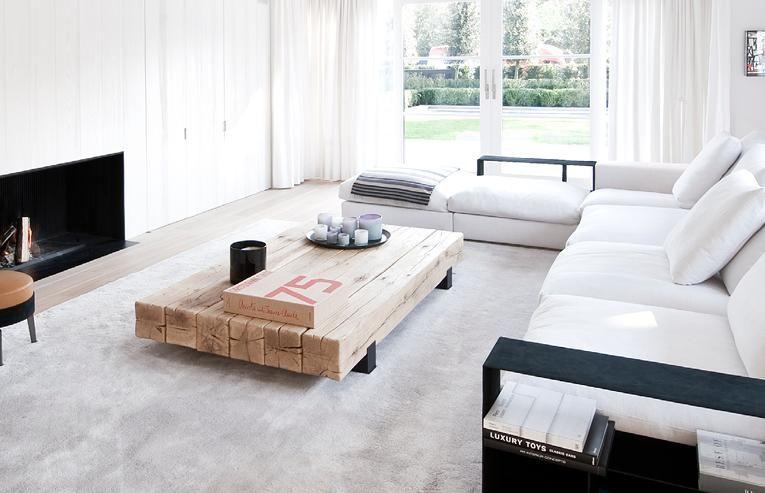 Beam coffee table @ RR-Interieur | van rossum | Pinterest | Beams ...