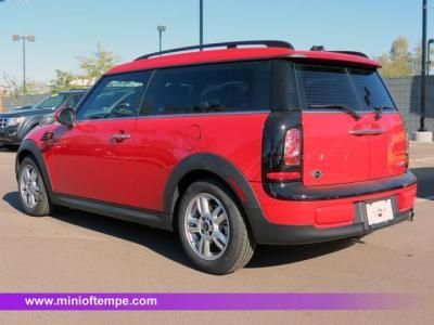 2012 MINI Cooper Clubman in Chili Red with Carbon Black Leatheret interior