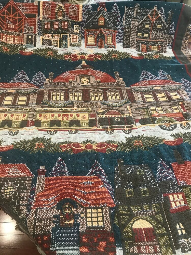 Dept 56 Dickens Village Goodwin Weavers Blanket 60 X 84