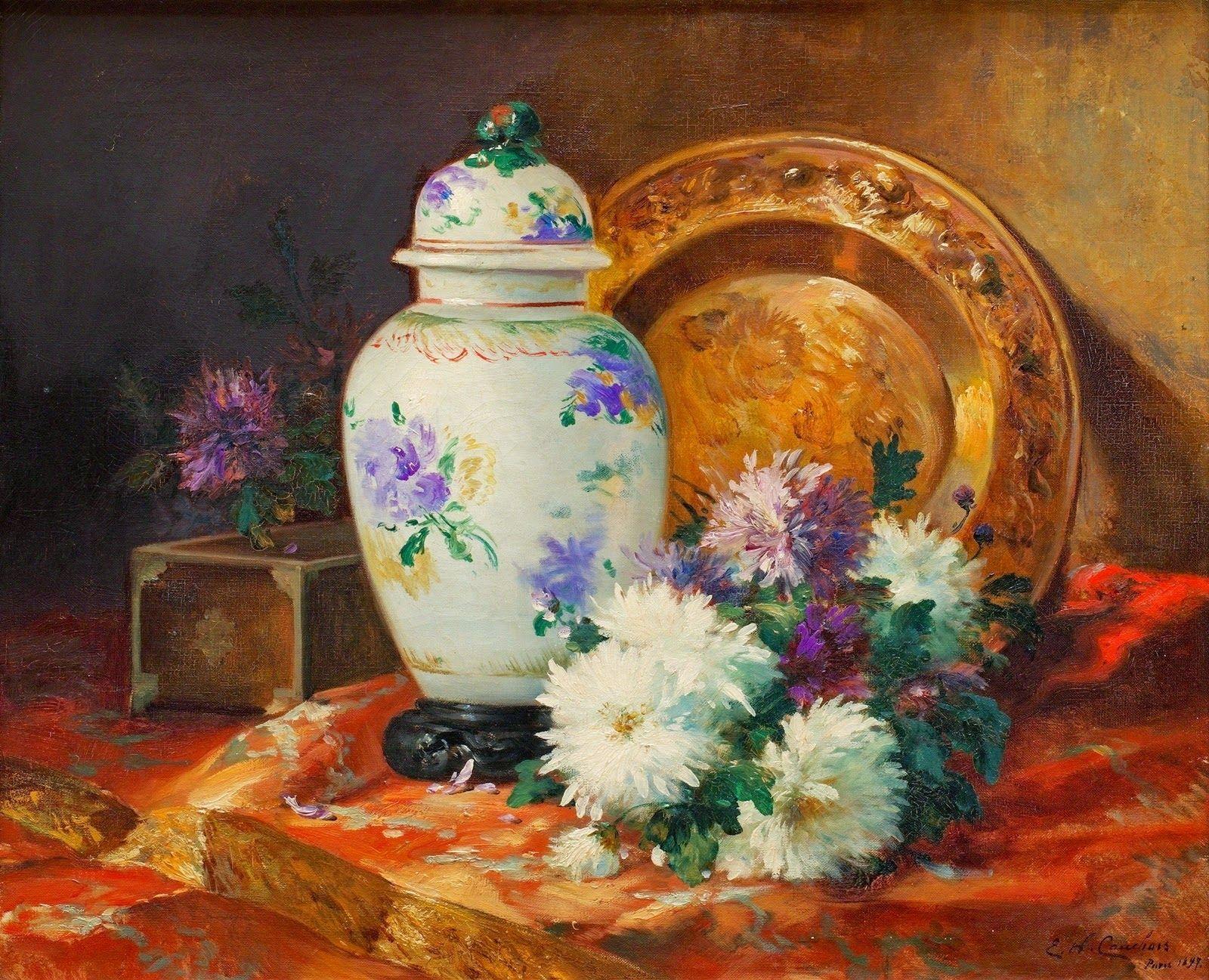 Fine Art and You: Eugene Henri Cauchois Impressionist Painter - Still Life Art