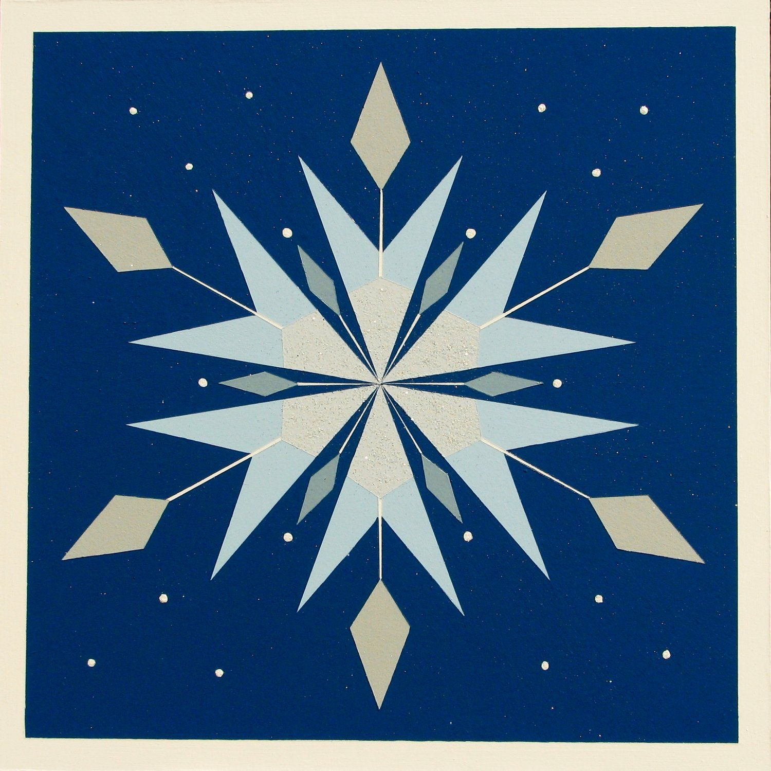 Winter Beauty Barn Quilt   Painted barn quilts, Barn quilt ...