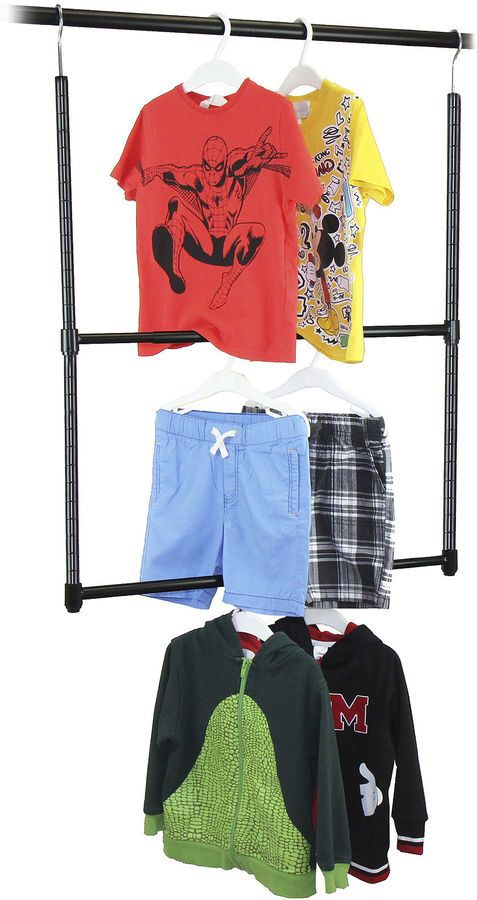 Need this for kids bedroom. No more wasted closet space with short clothes. OCEANSTAR Oceanstar 2-Tier Closet Hanger Rod