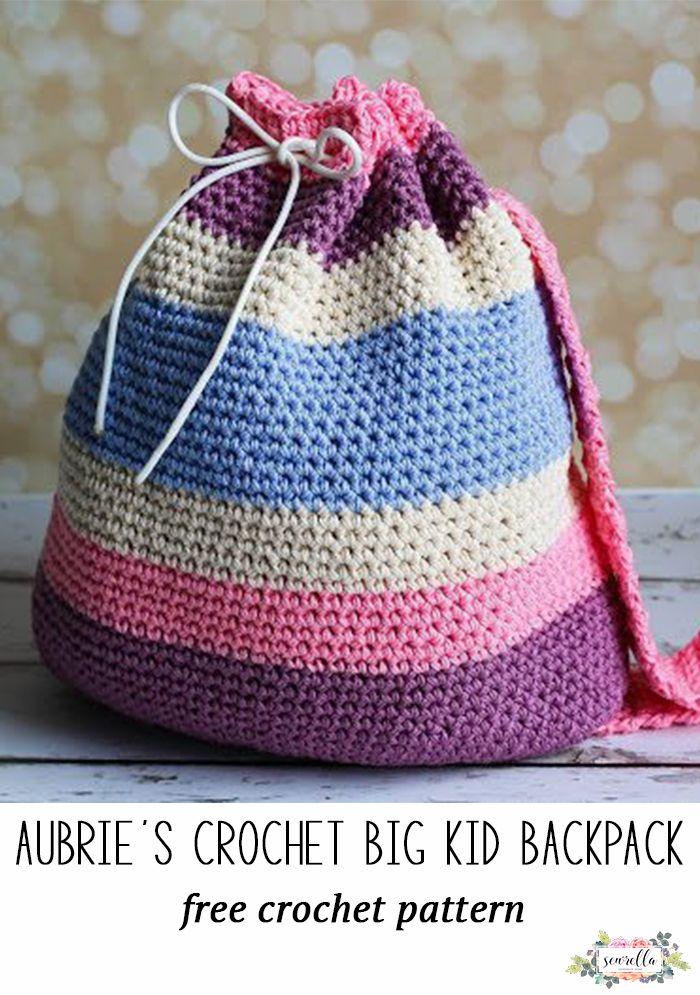 Aubries Crochet Big Kid Backpack Pinterest Kids Backpacks Free